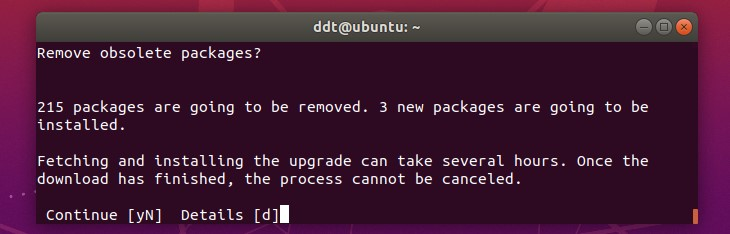 Upgrade process asking if it should remove obsolete packages