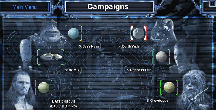 List of campaigns in SWGB