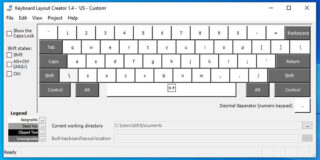 Keyboard layout has been selected
